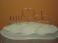 cake topper + wedding + silver S - Google Search