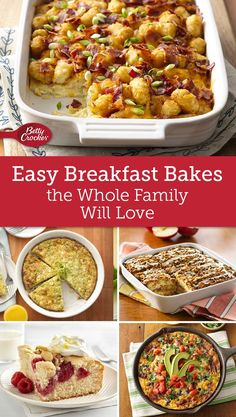 Bisquick can help get your family's favorite breakfast on the table in no time at all. Breakfast Items, Breakfast Bake, Breakfast Dishes, Breakfast Recipes, Breakfast Casserole, Brunch Recipes, Easy Brunch Menu, Brunch Food, Sunday Brunch
