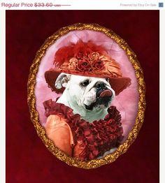 ON SALE English Bulldog Dog Jewelry Brooch by NobilityDogs on Etsy, $30.60