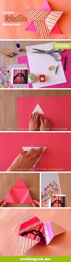 Tarjeta Estrella.  http://owl.li/ohzIf Linda para regalar a un ser querido.