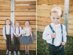 OMG how cute are the flowergirls and ringbearers ! Vintage Glam Backyard Wedding: Heather + Kyle