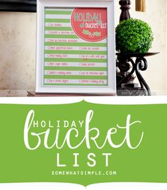 FREE adorable holiday bucket list printable from SomewhatSimple.com!
