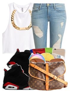 """""""."""" by clinne345 ❤ liked on Polyvore featuring H&M and Frame Denim"""