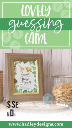 If you want a memorable baby shower game, jungle greenery baby shower guessing game jar cards are for you. Zoo animal candy jar game cards gender reveal decorations; safari animal baby shower candy guessing game cards guess how many candy in the jar elephant guess how many baby shower games for girls or boy giraffe baby shower games to play gender reveal games for party gold and green tropical leaves guess how many kisses game kids birthday party games for kids gender neutral baby shower ideas Gender Reveal Games, Gender Reveal Party Supplies, Gender Reveal Decorations, Baby Gender Reveal Party, Baby Shower Party Supplies, Gender Neutral Baby Shower, Baby Shower Guessing Game, Easy Baby Shower Games, Baby Shower Candy
