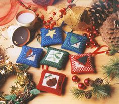 Set of Six Tree Decorations Tapestry Kit
