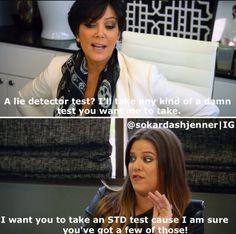 13 Times Khloé Kardashian's Clapbacks To Kris Jenner Went Way Too Far Kardashian Quotes, Kardashian Jenner, Ugly Crying Face, Funny Memes, Hilarious, Funny Quotes, Funny Shit, Funny Stuff, Stupid Stuff