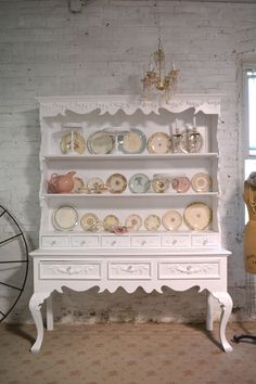 Items similar to Painted Cottage Chic Shabby Farmhouse Hutch on Etsy Shabby Chic Kitchen, Shabby Chic Cottage, Vintage Shabby Chic, Shabby Chic Homes, Shabby Chic Style, Shabby Chic Decor, Shabby Chic Hutch, Cottage Farmhouse, Shabby Chic Boutique
