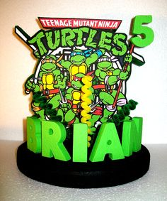 Teenage Mutant Ninja Turtles 3D Custom PERSONALIZED by TishToppers, $39.00