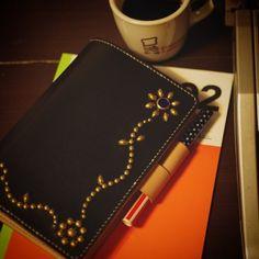 #システム手帳 #filofax #schedulebook #pocketbooks #leather #studs  #traditional_standard by trad_std