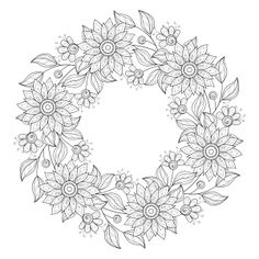 Advanced Flower Coloring Pages 9 - KidsPressMagazine.com