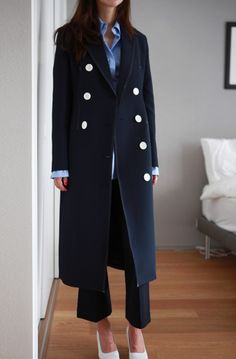:an awesome coat can give a simple ensemble so much life: