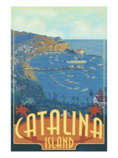 Catalina Island, off the coast of California.  26 miles across the sea.