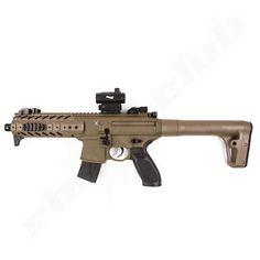 Sig Sauer MPX CO2-Gewehr 4,5mm Diabolo - Dark Earth + Red Dot