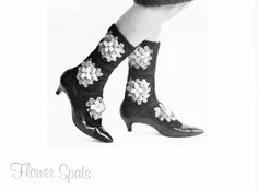 The Vintage Pattern Files: 1960's Crochet - Flower Spats