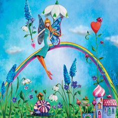 Mila Marquis / Fairy on a rainbow