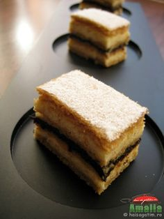 Prajitura Foi cu miere de albine, Honey cake with cream and prune marmalade filllings
