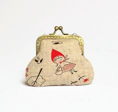 Retro Coin Purse by MyCottonHouse