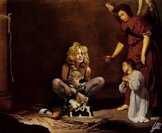 #madonna #famous #painting #velazquez #mertalas #art #artwork #digitalart #photomanipulation  Hurry up Madonna, you are gonna be late for the show.  Reference photo: Madonna by Mert Alas & Marcus Pigott for Interview Magazine  Original painting: Christ after the flagellation contemplated by the Christian soul painting by Diego Velazquez.