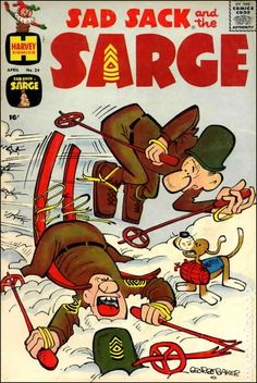 Sad Sack Cartoon   Sad Sack and the Sarge (1957) comic books
