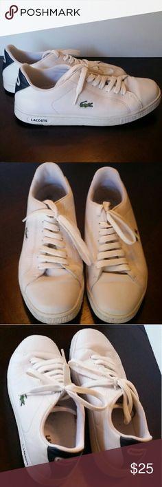 Lacoste Sport Men's Shoes White, great pre-owned condition Lacoste Sport Shoes Lacoste Shoes Sneakers