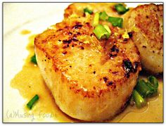 Pan Seared Scallops With Lemon Butter Sauce - (a)Musing Foodie