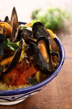 mussels in tajine a la jamie !