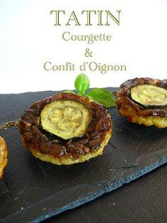 J'en reprendrai bien un bout...: Tatin Courgette & Confit d'Oignon