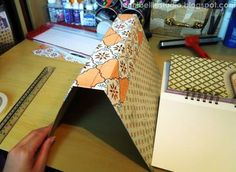 Jennibellie Studio: Smash Book Tutorial - Part Two: The Removable Cover. Use this for hardback book covers.