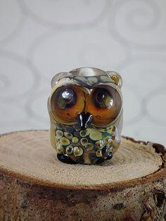 lampwork owl bead