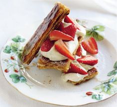 Turn strawberries and cream into a pudding to remember with the simple addition of puff pastry sheets
