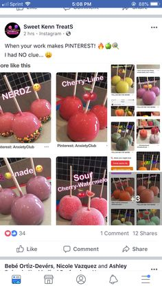 Yummy Snacks, Yummy Drinks, Delicious Desserts, Snack Recipes, Dessert Recipes, Yummy Food, Gourmet Candy Apples, Junk Food Snacks, Candy Drinks