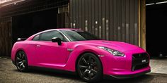 Cool Pink Nissan GT-R! See more 'pinworthy' pics in our pin #supercar special. Click on the pic for all things pretty and pink!