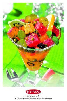 Va propunem sa va incepeti ziua cu o salata de fructe racoritoare si revigoranta. Yummy #Hypoxi #HealthySkin