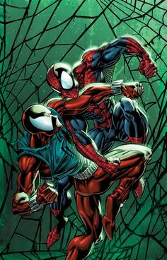 Spider-Man Vs Scarlet Spider by Mark Bagley