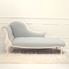 Alana Duck Egg Chaise Longue   Sweetpea and Willow. Want to recover my chaise longue with a similar colour.