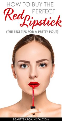 Makeup Tips for Red Lipstick Lovers: A red lipstick tutorial. The right shade of red lipstick can brighten a mouth, but the wrong shade of red will spoil a perfect pout. Red Lipstick Tutorial, Red Lipstick Tips, Lipstick For Fair Skin, Perfect Lipstick, Lipstick Art, Dark Lipstick, How To Apply Lipstick, Lipstick Colors, Red Lipsticks