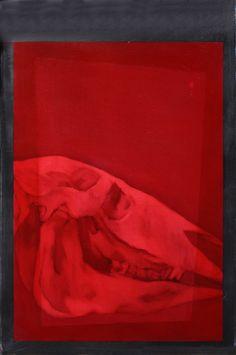 Studio per Ronzinante, olio su ardesia, 40 x 30 cm, 2016