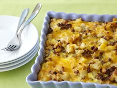 Combine frozen hash brown potatoes with sausage, eggs, and cheese for a hearty, 5-star-rated breakfast or brunch casserole that can be...
