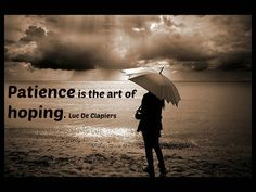 Patience is the art of hoping. Luc De Clapiers