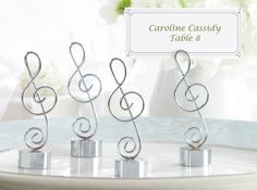 G-Clef Place Card Holders - 4 pcs - Musical Theme Wedding Favors - Wedding Favor Themes - Wedding Favors & Party Supplies - Favors and Flowe...