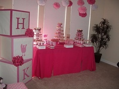 If I ever have a girl, I MUST have a totally pink baby shower! I LOVE this! dawniegirl