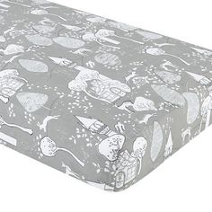 The Land of Nod | Crib Fitted Sheet (Grey Fairytale Print) in Crib Fitted Sheets