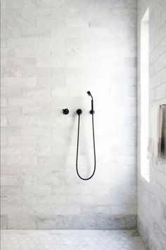 editorial The LA editorial,The LA editorial, oversized marble bathroom tiles // bathroom renovation ideas Brilliant Bathroom Shower Design Ideas white marble bathroom Shop domino for the top brands in home decor and be inspired by celebrit Laundry In Bathroom, Bathroom Renos, Bathroom Interior, Modern Bathroom, Small Bathroom, Shower Bathroom, Minimalist Bathroom, Bathroom Shop, Shower Tiles