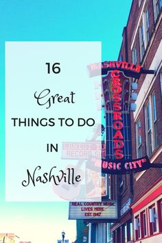 16 Ideas for Your Next Trip to Nashville From great food and music to historical buildings and speakeasies, there are so many great things to see and do in Nashville, Tennessee Nashville Vacation, Tennessee Vacation, Nashville Tennessee, East Tennessee, Weekend In Nashville, Tennessee Waltz, Nashville Restaurants, Visit Nashville, Oh The Places You'll Go