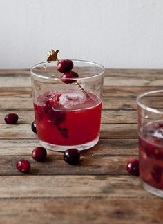 Blistered Cranberry Tequila Cocktail