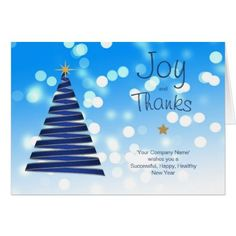 Thank You Company Christmas Cards Blue Corporate - Xmascards ChristmasEve Christmas Eve Christmas merry xmas family holy kids gifts holidays Santa cards