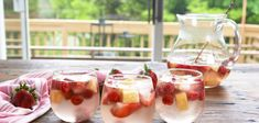 Kick off summer with this fruity sparkling sangria recipe! Visit The Sweetest Occasion for thousands of cocktails, recipes, party ideas + entertaining tips! Sangria Recipe With Sprite, Sangria Recipes, Cocktail Recipes, Drink Recipes, Beach Drinks, Wine Drinks, Summer Drinks, Pina Colada Rum, Moscato Sangria