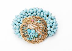 Myrtle Love Cures Bracelet --    Antique brooch created into a one of a kind stretch bracelet using vintage beads. A truly stunning piece of arm candy from our Wear a Bracelet, Find a Cure Campaign. -- $125.00