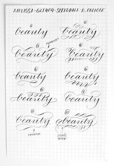Modern 10: Flourishes | Calligraphy.org