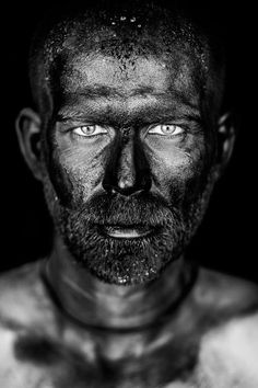 Untitled #man #black_and_white #portrait This is a portrait of my friend Dimitri as a tribute to the miners.Makeup Léti Sauron-Olivieri. -- Your Shot. NATIONAL GEOGRAPHIC.